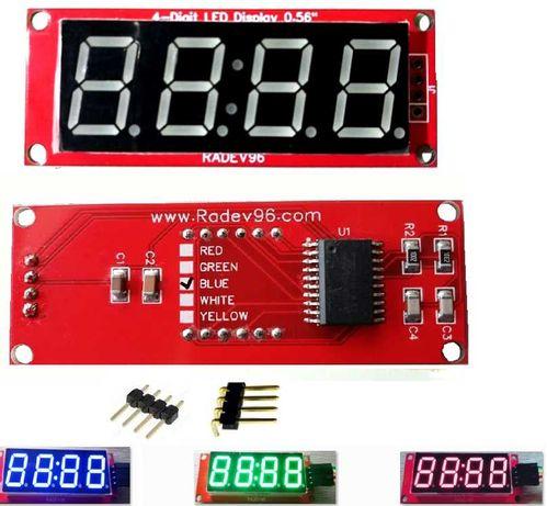 """7-сегментен LED дисплей TM1637 0.56"""" // за Arduino"""