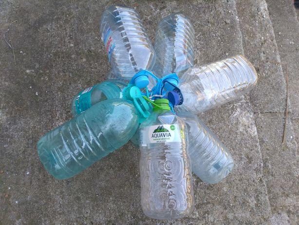 Pet, glajă, sticlă, flacon plastic 5l