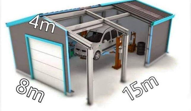 Vand/Schimb Garaj,Service auto pe structura metalică închisă cu panou