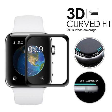 3D Извит стъклен протектор за Apple Watch Series 4 5 iWatch
