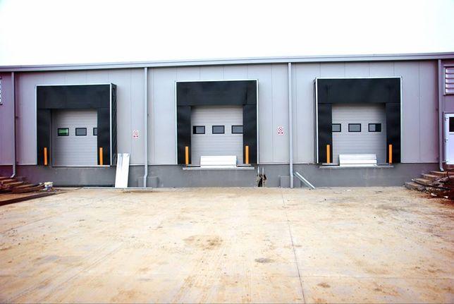 Uși de garaj secționale industriale 3350*4200 3x Geamuri + Lant