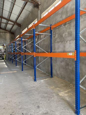 Складови палетни стелажи с дължина 11м 36 палетоместа