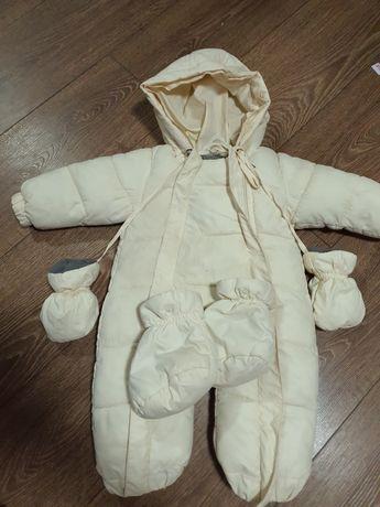 Детский зимний комбинезон стильный превосходного качества!