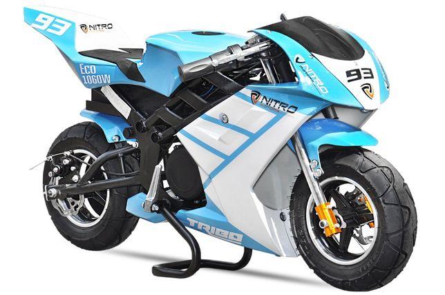 Motocicleta electrica Pocketbike NITRO ECO TRIBO 1060W 36V #Blue