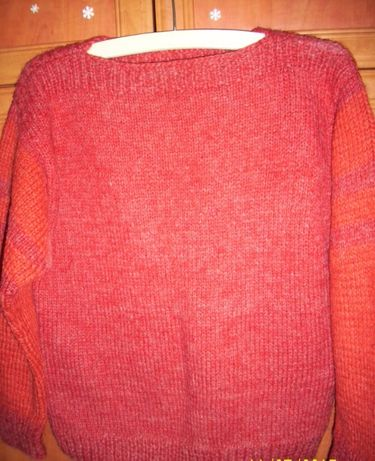 Bluza tricotata manual lina toarsa oaie mar L-XL