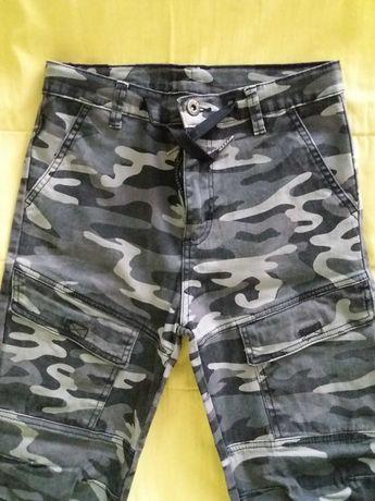 Детски еластичен панталон за 8-12г. дете, памук/еластан, чисто нов
