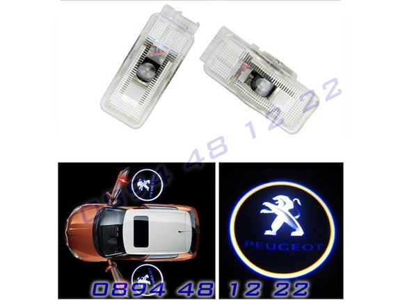 ЛЕД Светещо Лого Проектор Врата Автомобил Кола Проектори Пежо Peugeot