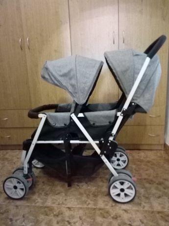 Двойна бебешка количка