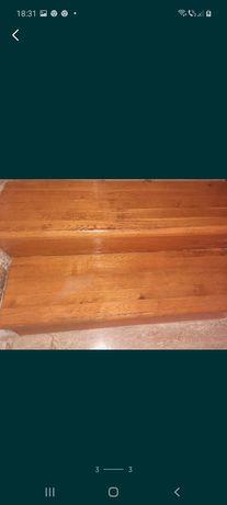 Scari lemn stejar  și balustrada inox