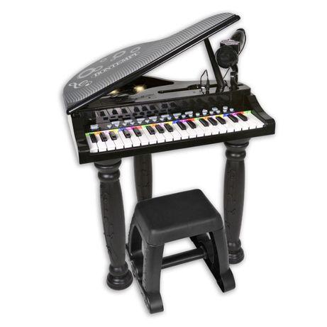 Mini pian pentru copii, 8 sunete, 4 ritmuri, microfon si scaun,3+