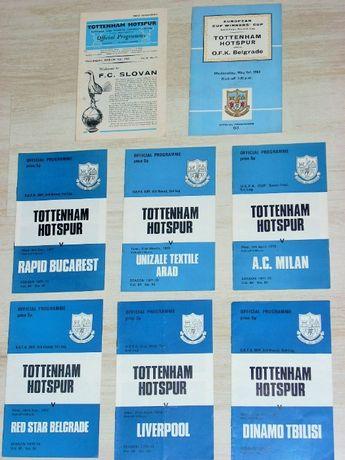 Стари футболни програми Тотнъм Хотспър от европейски клубни турнири