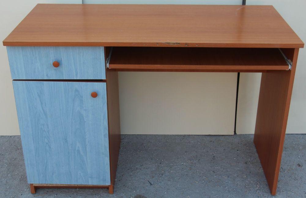 Birou solid cu usa si sertar; Masa de lucru cu blat solid 120x58 cm Bucuresti - imagine 1