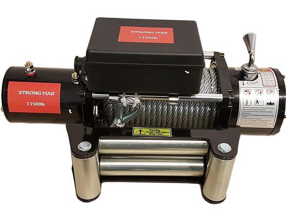 ЛЕБЕДКА - електрическа(с дистанционно) за джипове 12 V -13500lb