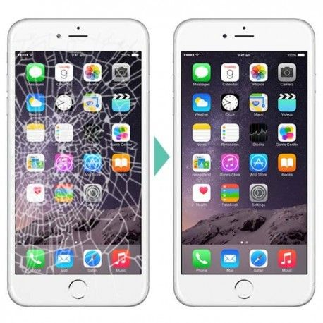 Schimbare Inlocuire geam sticla iPhone 6 6s 7 8 Plus Pe Loc Garantie