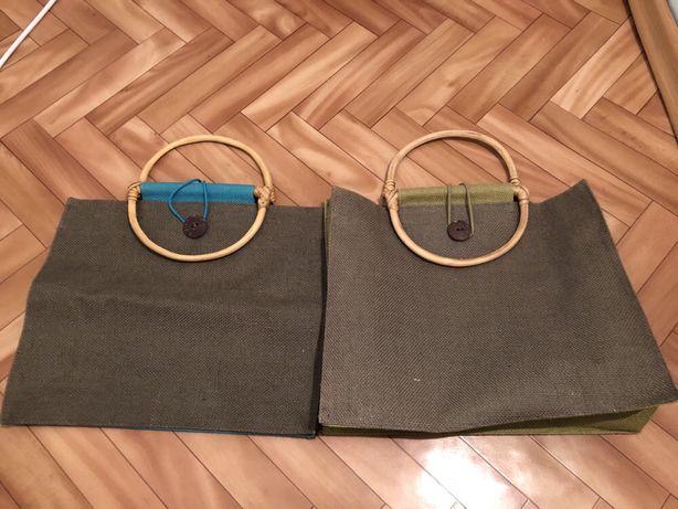 Sacose din IN cu manere bambus