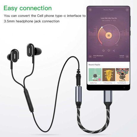 Адаптер для наушников Huawei Mate10 Pro P20, USB C к 3,5 мм AUX