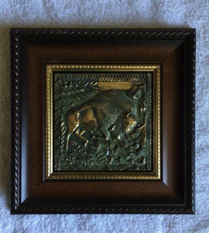 Метална картина, склуптора от бронз! Арт подарък, колекция