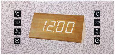 Ceas Electronic, Alarma, Calendar, Termometru, Afisaj Cu LED-Uri Culoa