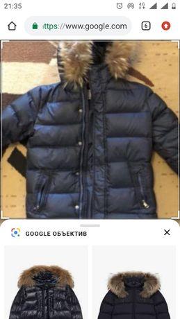 Продам зимний комплект: куртка(пуховик) и полукомбинезон