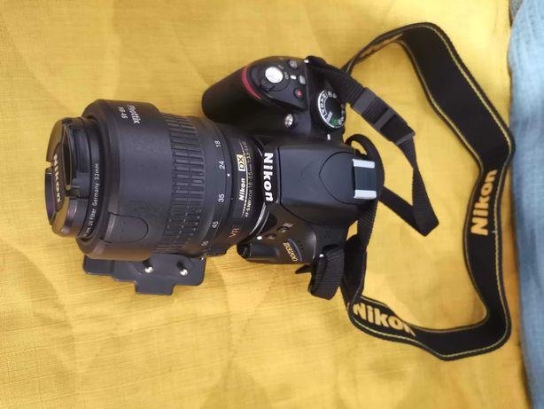 DSLR Nikon D3200, 24.2MP, Black + Obiectiv 18-55mm ED II