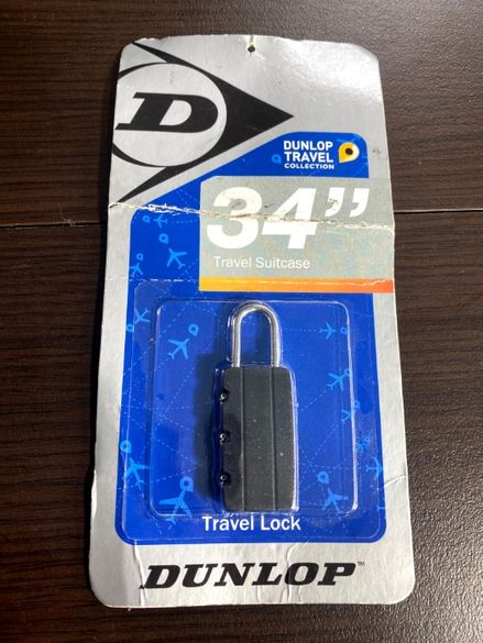 Dunlop travel lock катинар с код за куфар / чанта / раница нов
