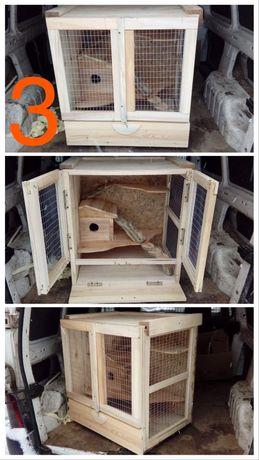 Дървена клетка / къщичка за чинчила или други животни
