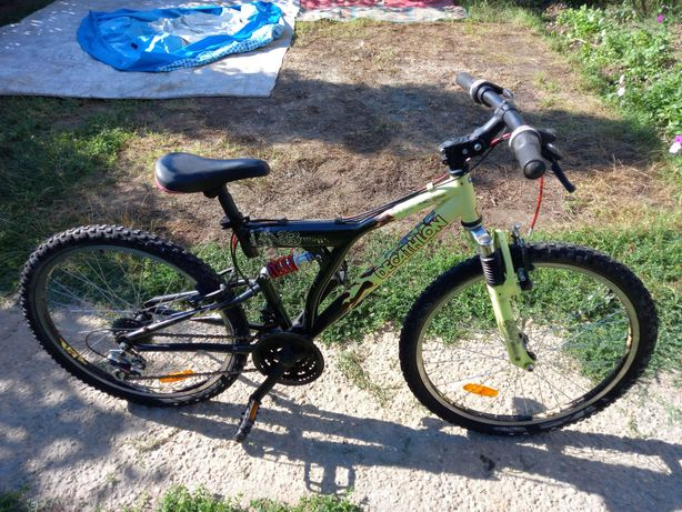 Bicicleta mtb copii Decathlon,24 inchi (8-13 ani),full susp,6x3,