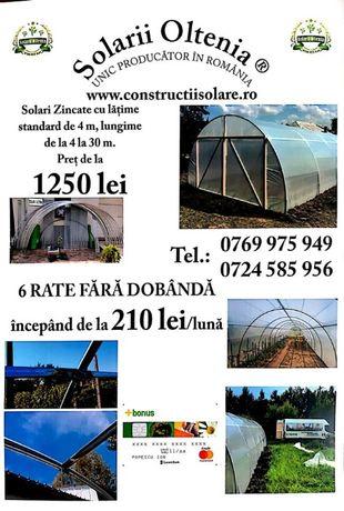 Solarii de gradina Mini-Home KS 14 (14 m lungime x 4 m latime x 2.5 m)