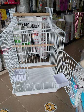 Клетка за птици(папагали) с отваряем покрив.р-р:47×47×65 h.