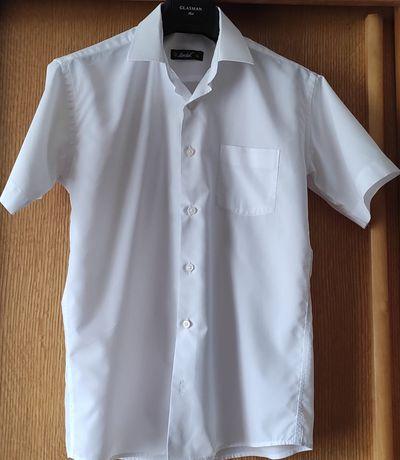 Продам белую рубашку с коротким рукавом на мальчика 12-13 лет, Herdal