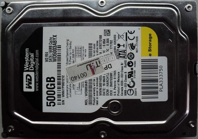 """Hard Disk-HDD Sata 3,5"""" HDD-500 Gb Western BLACK WD5003QBYX"""