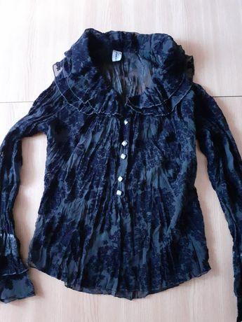 Bluză neagră elegantă S-M dantelă