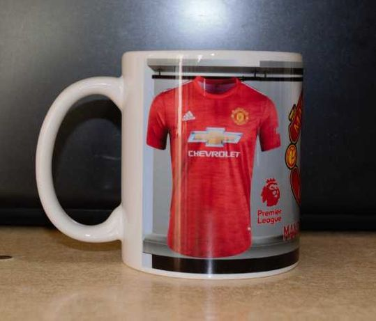 Чаша на Манчестър Юнайтед с име и номер!Футболна чаша Manchester Und!