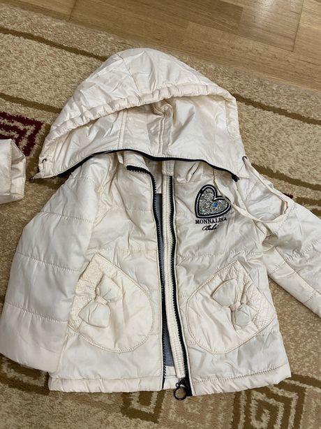 Две куртки для двойняшек и жилет