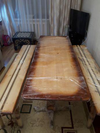 Банный стол + 2 лавочки