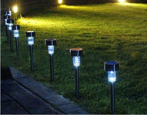 Lampa solara gradina LED, Negru