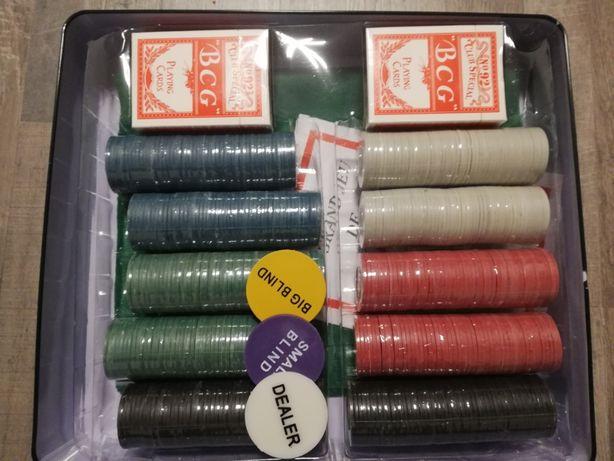Set poker cu 500 chips,cutie metalica