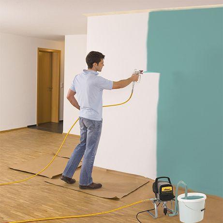 Покраска Побелка стен и потолков Без воздушная покраска