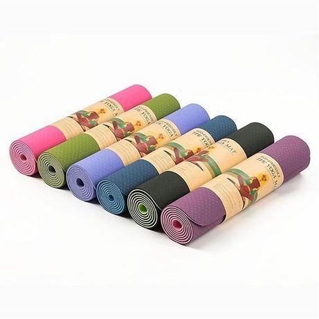 Коврик для йоги, каримат, каремат, мат двусторонний от 6000тг