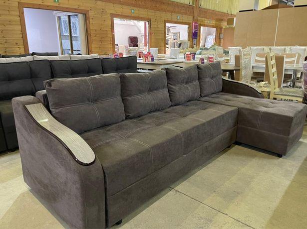 Угловой диван на паролоне, пружина тиктак