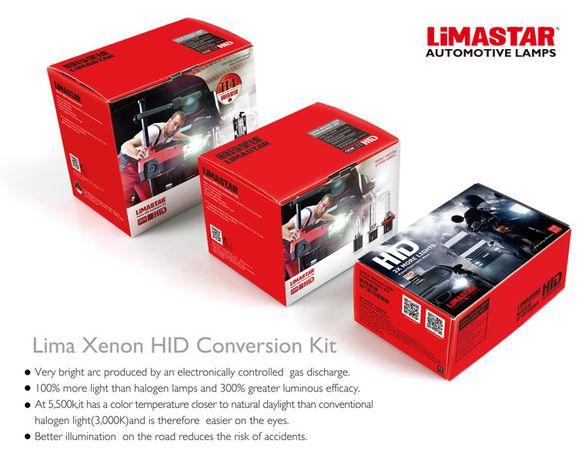 Kit conversie xenon Limastar 55w OEM pornire instant H1, H11, H7 6000k