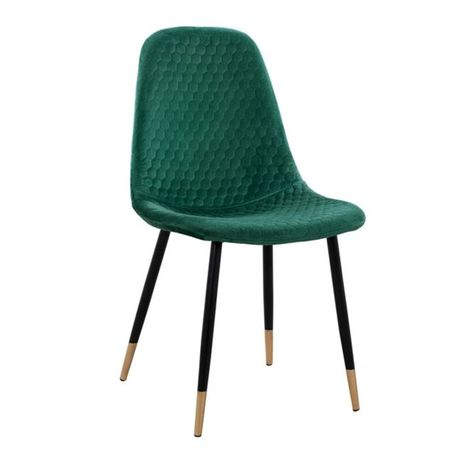 Стол люсил зелено кадифе с метална рамка