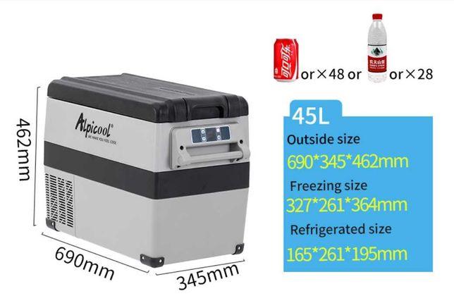Компрессорный мини авто холодильник 45л для в салон машины авто Алматы
