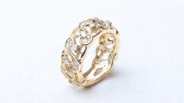 Кольцо с бриллиантами, золото 750 Россия, вес 8.33 г. «Ломбард Белый»