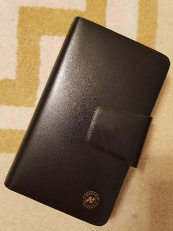 Кожен черен голям дамски елегантен портфейл, нов