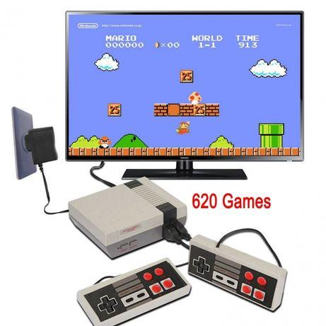 Теливизионна игра Nintendo с два джойстика и 620 ретро игри