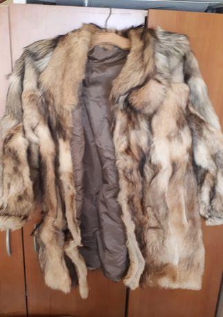 100%естествен косъм палто от жълта лисица