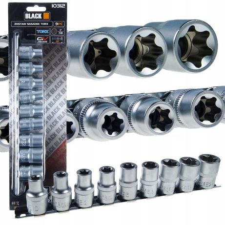 Set de 9 bucati tubulara Torx 10312