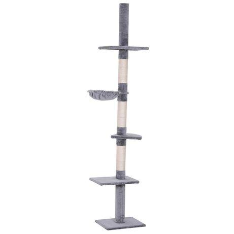Котешка катерушка с регулируема височина 230-260 см, сиво