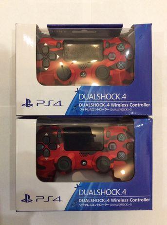 КАМУФЛЯЖ красный джойстик геймпад джостик Sony PlayStation PS4 Дуалшок